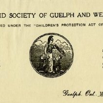 Image of Guelph Children's Aid Society Letterhead, 1929