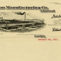 Image of Gilson Manufacturing Ltd. Letterhead, 1931