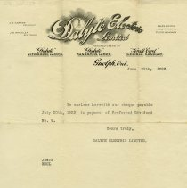 Image of Letter from Dalyte Electric Limited, 1923