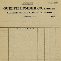 Image of Blank Statement Form, Guelph Lumber Co., c. 1925