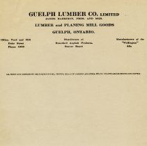 Image of Guelph Lumber Co. Limited Letterhead