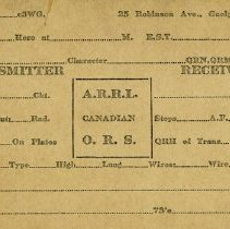 Image of A.R.R.L. Canadian O.R.S. Card, Guelph