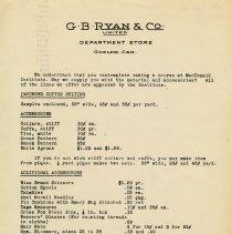 Image of Advertising Letter, G.B. Ryan & Co.