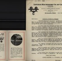 Image of Advertising Letter & Brochure, Louden Machinery Co. of Canada