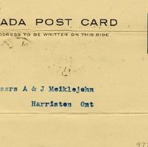 Image of Postcard Receipt from A.R. Woodyatt & Co.,1900