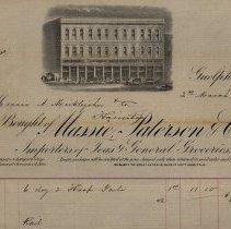Image of Massie, Paterson & Co. Statement, 1876.
