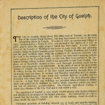 Image of Description of the City of Guelph, p.1