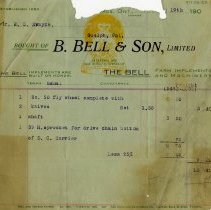 Image of Statement, B. Bell & Son, Limited, 1904