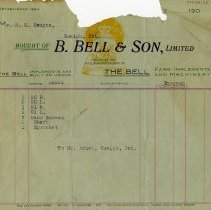 Image of Invoice from B. Bell & Son, Ltd., 1904