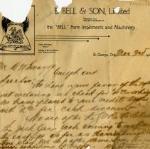 Image of Letter from B. Bell & Son, 1904