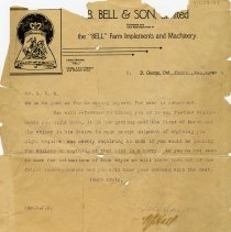 Image of Letter from B. Bell & Son, Limited, 1904