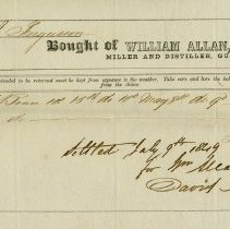 Image of Invoice from William Allan, Miller and Distillier, 1844