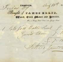 Image of Statement, James Ellis, Toronto Jeweller, 1850