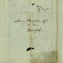 Image of Side two of letter with name of Adam J. Fergusson, Esqr., Guelph, on it