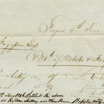 Image of Invoice to A.J. Fergusson, June 9, 1845