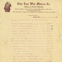 Image of Advertising Letter, Chief Lone Wolf Medicine Co., 1928