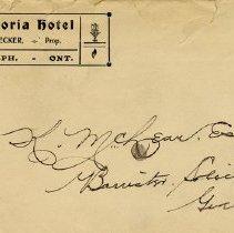 Image of Victoria Hotel Envelope