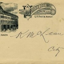 "Image of Envelope, ""The Wellington"" Hotel, Guelph"