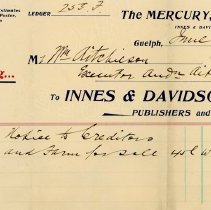Image of Guelph Mercury Invoice, 1895