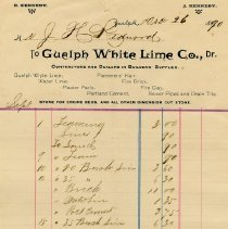 Image of Statement from Guelph White Lime Co., 1890