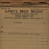 Image of Unused Counter Bill Book, Lasby's Meat Market