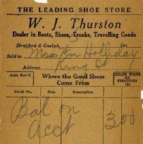 Image of Counter Bill, W. J. Thurston, c.1915