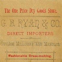 Image of Counter Bill, G.B. Ryan & Co., c.1895