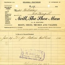 Image of Invoice from Neill, the Shoe Man, 1922