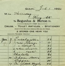 Image of Invoice from Bogardus & Barton, 1922