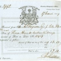 Image of Receipt, Front