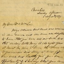 Image of Letter to Dr. and Mrs. Lin?, July 11, 1897