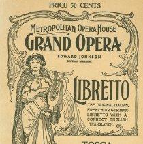 Image of Met Opera Program Tosca