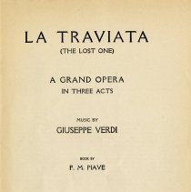 "Image of ""La Traviata ( The Lost One ), title page"
