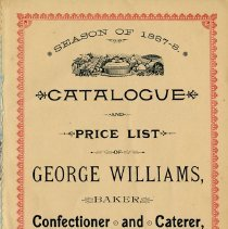 Image of Title Page of Catalogue and Price List, 1887