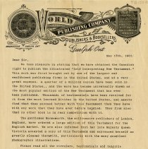 Image of Advertising Letter from World Publishing Co., 1901