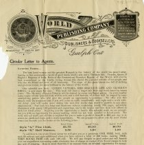 Image of Advertising Circular Letter to Agents, 1901
