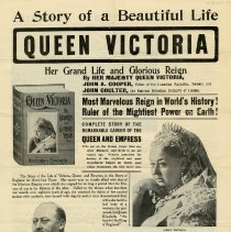 Image of Poster Advertising a book on Queen Victoria