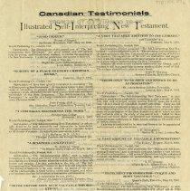 "Image of ""Canadian Testimonials"" for Self-Interpreting New Testament"