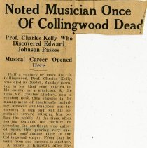 "Image of ""Noted Musician Once of Collingwood Dead"""