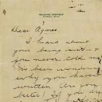 Image of .1 Letter to Agnes McAteer, page 1