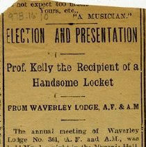 Image of Newspaper Clipping about Mr. Charles Kelly