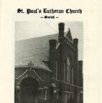 Image of St. Paul's Lutheran Church 70th Anniversary Program, 1978