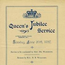 Image of Queen's Jubilee Service, June 20, 1897