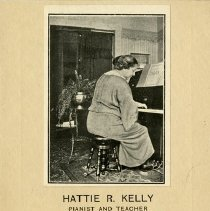 Image of Brochure for Hattie R. Kelly, Pianist and Teacher