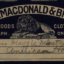 Image of D.E. Macdonald & Bros.' Label