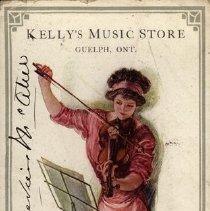 Image of Ink Blotter & 1911 Calendar, Kelly's Music Store