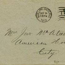 Image of .2 - Envelope, Savage & Co., 1912