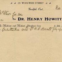 Image of .2 - Invoice from Dr. Henry Howitt, November 30, 1913