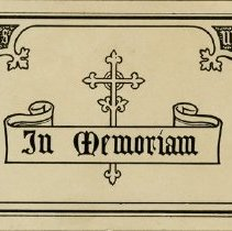 Image of In Memoriam Card for John McAteer, 1917