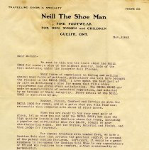 Image of Advertising Letter from Neill, The Shoe Man, 1912